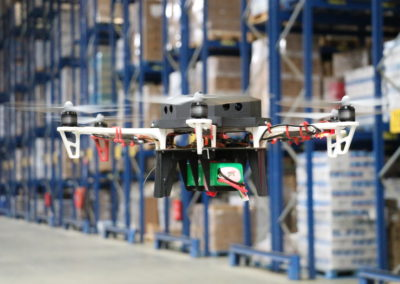 Drones in warehouse